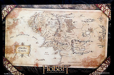 THE HOBBIT - MAP POSTER (57x87cm) UNEXPECTED JOURNEY NEW LICENSED ART