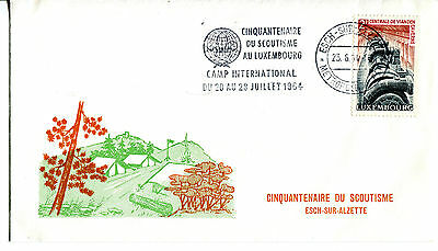 Luxembourg 1964 Boy Scouts International Camp illustrated cover