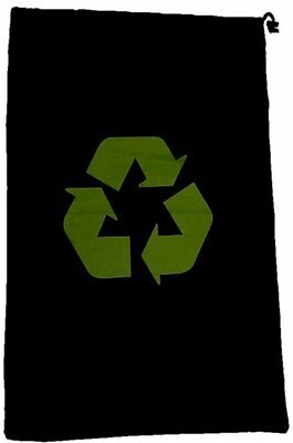 Flat Packed Black Recycle Laundry Bag - Ideal for travel
