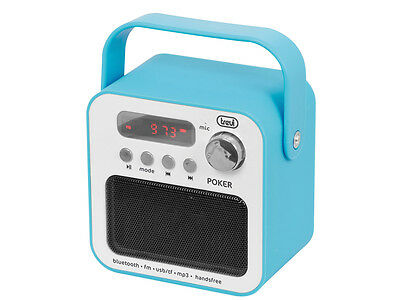 Radio portatile con Mp3 e Bluetooth Trevi DR 750 BT POKER Azzurro
