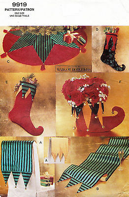 1990's  VOGUE A Jester's Christmas Stocking Pattern 9919 UNCUT