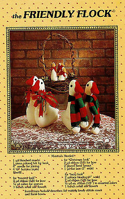 VTG The Friendly Flock Christmas Geese Pattern