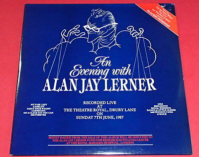 An Evening with Alan Jay Lerner   -- 2LPs / Musical