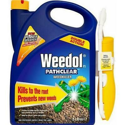 NEW - Weedol 5 Litre Pathclear Battery Operated Power Sprayer Weed Killer 5L