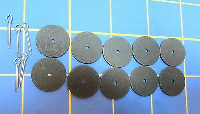 "For Jointed Teddy Bear = 10 - 3/4"" Hardboard Discs - 5 Cotter Pins"