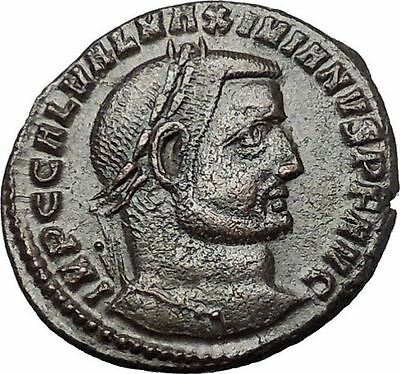 Galerius 308AD Large Rare Authentic Ancient Roman Coin Genius Cult i54432