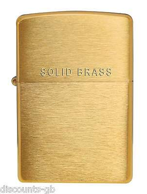 Zippo Classic 204 Brushed Brass / Gold lighter - Petrol Windproof - Gift Box