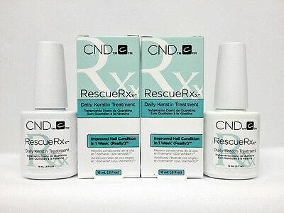 2 x CND Rescue RXx - Daily Keratin Treatment - 0.5oz/15ml # 90763