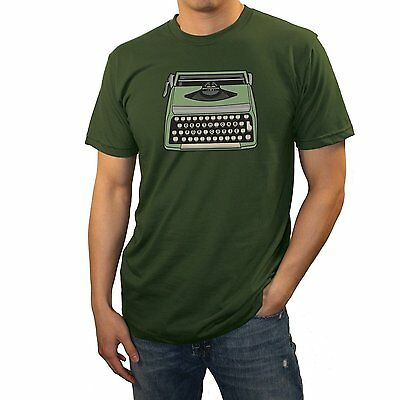WEA Men's Death Cab For Cutie 'Typewriter' T Shirt,Olive Green,Large