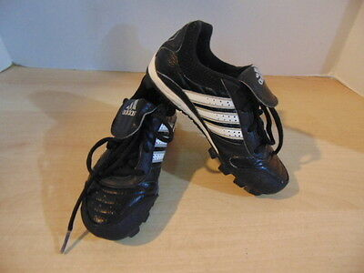 Baseball Shoes Cleats Childrens Size 12  Adidas Black / White