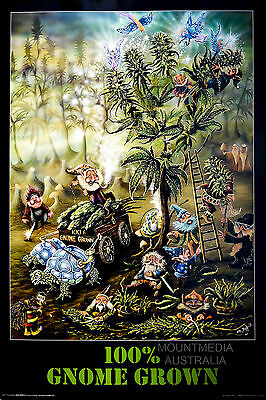 100% GNOME GROWN WEED - MARIJUANA POSTER (91x61cm)  NEW LICENSED ART