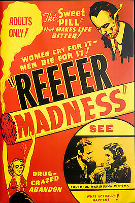 REEFER MADNESS - MARIJUANA PROPAGANDA 1936 POSTER (91x61cm)  NEW LICENSED ART