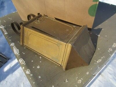 VINTAGE Antique Metal Tudor Mail Trainer Mfg. Mailbox MAIL BOX Fulton ILL. C 3