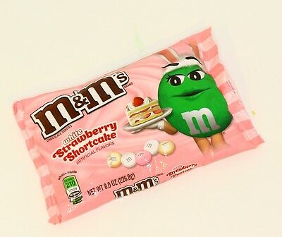 M&M's Strawberry Shortcake Flavored white Chocolate Candies Candy