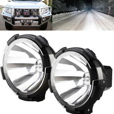 2x 7inch 100W 12V Truck Lamp HID XENON Driving Spot Lights Offroad Working Bulb