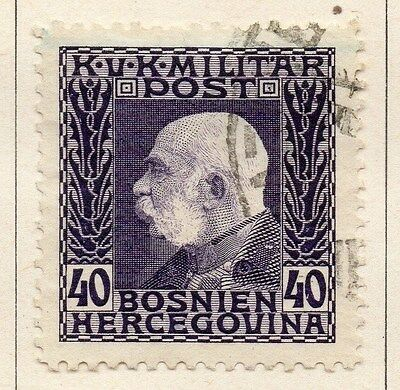 Bosnia Herzegovina 1912 F Joseph Early Issue Fine Used 40h. 045094