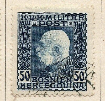 Bosnia Herzegovina 1912 F Joseph Early Issue Fine Used 50h. 045096
