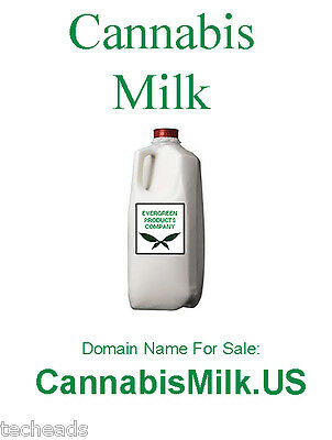 CANNABIS MILK - CANNABIS & FOOD Niche Domain Name for sale: CannabisMilk.US