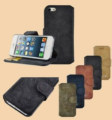 Suede Pu Leather Mobile Case Cover With built Stand for Apple Iphone 6 plus/6G/5