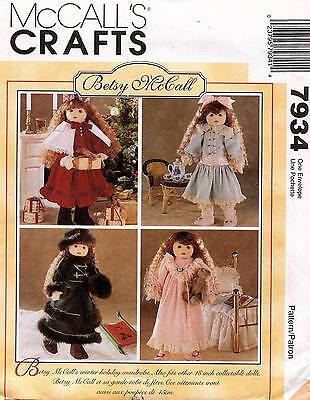 """McCall's Betsy Doll Clothes Pattern 7934 18"""""""