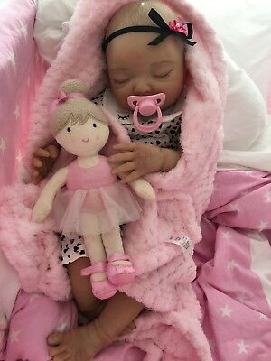 "Reborn Doll Baby Girl Summer Realistic 22""  Real Lifelike Childs Newborn Size Uk"