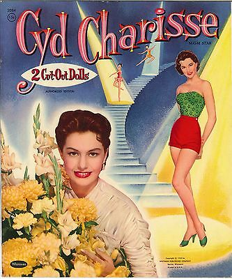 VINTGE 1956 CYD CHARISSE PAPER DOLL ~NICE~ REPRODUCTION~Org SIZE Unct NO.1 SELLR