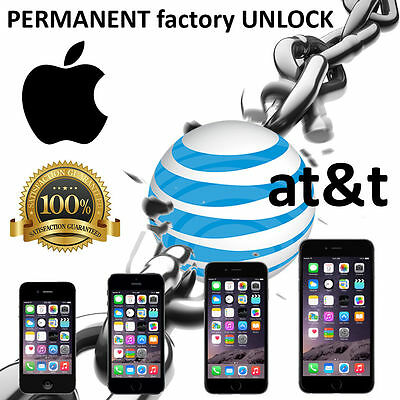 AT&T Factory Unlock code service USA for iPhone  5S 6 6+ 7 7s 8 X X+fast 1-12hr