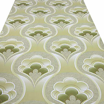 GEO FLORAL MOD-MINIMALIST ADVENTURE UP VINTAGE ORIGINAL 1970s 60s Wallpaper