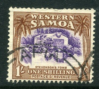 SAMOA;  1935 early pictorial issue fine used 1s. value