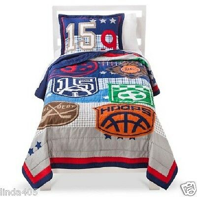 Circo Game On Sports Collection Twin Quilt & One Sham 100% Cotton