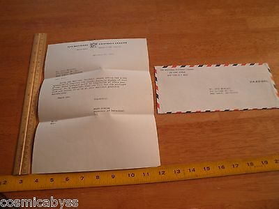 National Football League 1971 official letterhead letter re: Social SN of player