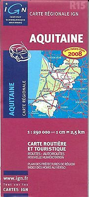 Map of Aquitaine, France, by IGN Map#R15