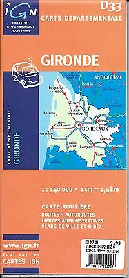 Map of Gironde, France, by IGN Map#D33