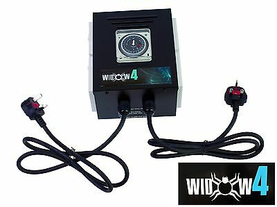 4 Way Professional Contactor Relay Control Unit, Black Widow Box, Built In Timer