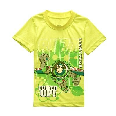Summer Boy Cotton T Shirt Kids Short Sleeve Tees Child Clothes Tops Size 2T-7