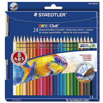 STAEDTLER Aquarellstift Noris Club aquarell, 24er Karton-Etui