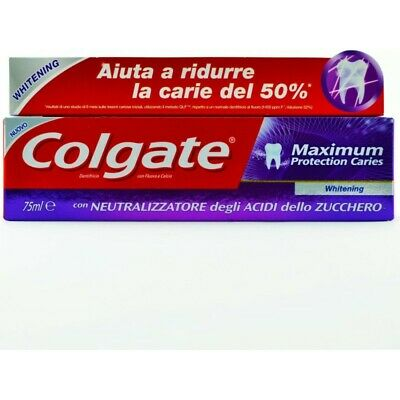 COLGATE dentifricio maximum protection whitening 75 ml