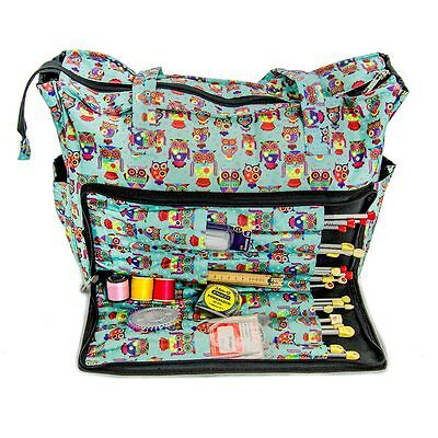 Knitting Shoulder Bag Craft Needle Wool and Accessories In Funky Owl