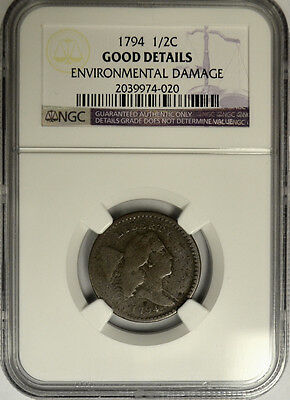 1794 Liberty Cap Half 1/2 Cent, NGC Good Details