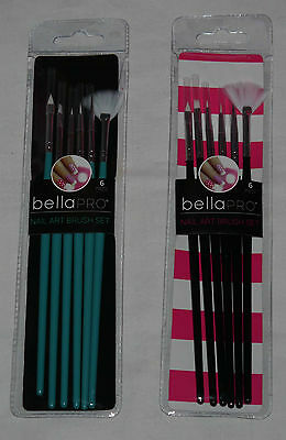 Bella Pro 6 Piece Nail Art Brush Set * color choices (Offered by Cozee Clothing)