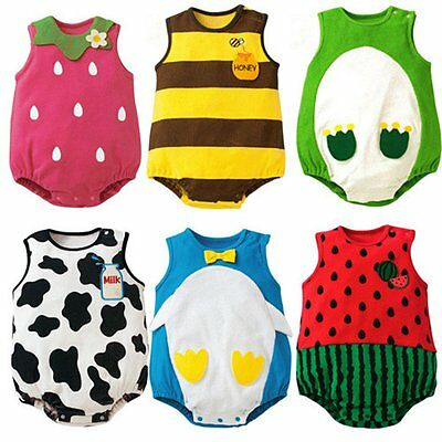 Newborn Kids Baby Boy Girl Infant Cotton Romper Jumpsuit Bodysuit Outfit Clothes