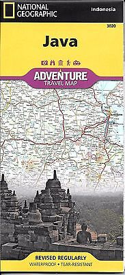 Map of Java, Indonesia, by National Geographic Adventure Maps # 3020