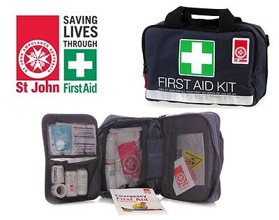 ST JOHN 124 FIRST AID KIT KITS BAGS Emergency Medical Travel Workplace Safety