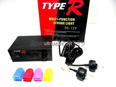 PS-704 Type R Multi Function Car Strobe Light with Controller & 4 Color Covers