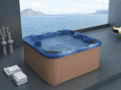 Outdoor spa, Hot Tub, 40 jets, Jacuzzi, pool, garden tub, wooden, blue