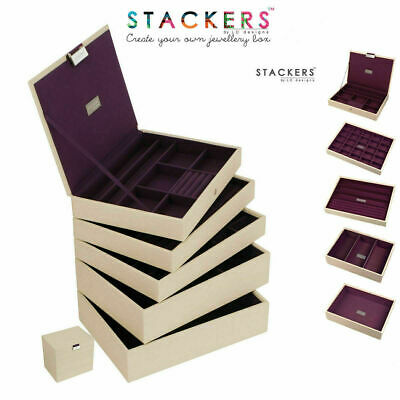 Stackers Classic Size Jewellery Boxes Cream or Design Your Own Set FREE DELIVERY