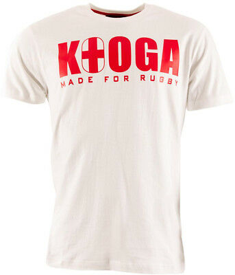 Kooga 6 Nations England Mens Short Sleeve Top - White