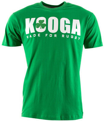 Kooga 6 Nations Ireland Mens Short Sleeve Top - Green