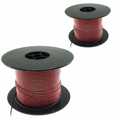 PVC 2-way Light Duty Wire Cable 22 & 26 AWG Flat  - UK Seller