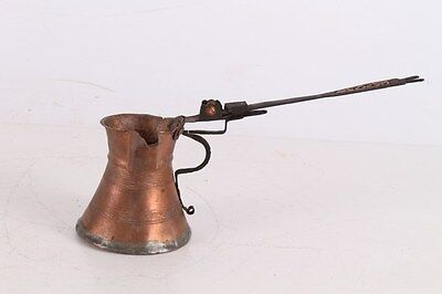Antique Authentic 19 Century Ottoman Turkish Islamic Copper Coffee Pot Cezve.